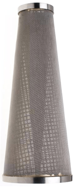 stainless steel woven cone filter