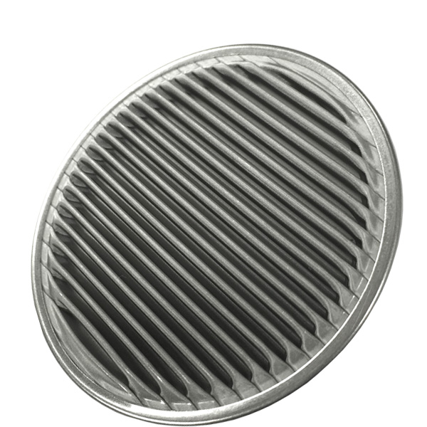 Woven Disc Basket : Filter disc rimmed stainless steel woven wire mesh